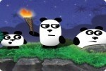 3 Panda nella notte