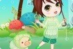 A passeggio con il maialino