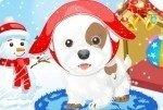 Cagnolino nella neve