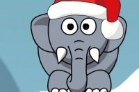 L'elefante russa a Natale