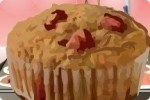Muffin con fragola e banana