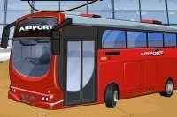 Parcheggia il bus dell'aeroporto