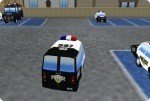Parcheggia le auto della polizia