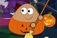 Pulizie di Halloween di Pou
